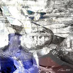 """""""Tagtraum""""    2014, digitale Kombination aus 3D-Werk und Fotografie"""