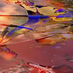 """""""Farbenwelt""""    2014, diegitale Kombination aus 3D-Werk, Acrylwerk und Fotografie"""