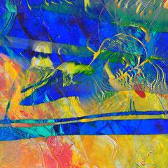 """""""unsere Hingabe""""    2014, digitale Kombination aus Acrylwerk und Fotografie"""