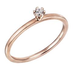 """1-07299-53-0089 """"Brillantring Verliebt Verlobt"""" 585/- Gold Brillant 0,07 ct SI H"""
