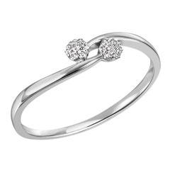 """1-08321-52-0089 """"Brillantring Verliebt Verlobt"""" 585/- Gold Brillant 0,07 ct SI H"""