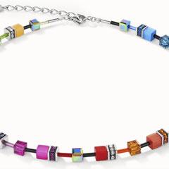 4905100840   |   Halskette GeoCUBE® Swarovski® Kristalle & Edelsteine flieder-grün
