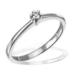 """1-03846-52-0089 """"Brillantring Verliebt Verlobt"""" 585/- Gold Brillant 0,05 ct SI H"""
