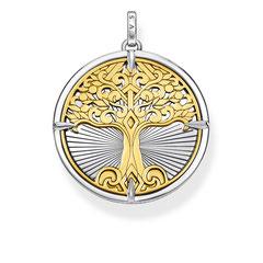 PE885-966-39 | Kettenanhänger Tree of Love mit Bicolor-Optik und 3D-Effekt • Individuelle Tragemöglichkeit mit langer oder kurzer Kette in Silber oder Gold • Ideal als Glücksbringer und Geschenk für Ihren Lieblingsmenschen