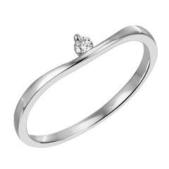 """1-07964-52-0089 """"Brillantring Verliebt Verlobt"""" 585/- Gold Brillant 0,04 ct SI H"""