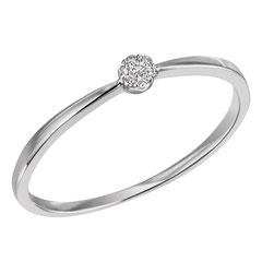 """1-08322-52-0089 """"Brillantring Verliebt Verlobt"""" 585/- Gold Brillant 0,04 ct SI H"""