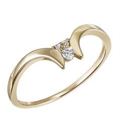 """1-08233-51-0089 """"Brillantring Verliebt Verlobt"""" 585/- Gold Brillant 0,07 ct SI H"""
