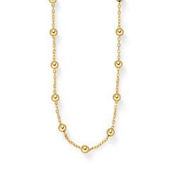 Collier, 585/- Gelbgold, 42 cm Sonniges Gelbgold-Collier Strahlend schön ist das Collier aus warmem 585/ Gelbgold, bei dem sich mehrere goldene Kugelelemente zu einem edlen Halsschmuck von 42 cm hintereinander reihen.