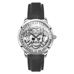 WA0355-203-201   |   Thomas Sabo - Herrenuhr Rebel Spirit 3D Totenköpfe silber  Wer die ausdrucksstarke Rebel at heart Attitüde liebt, wählt dieses einzigartige Uhrenmodell von THOMAS SABO: Stolz, selbstbewusst und voller Symbolik zeigt sich...