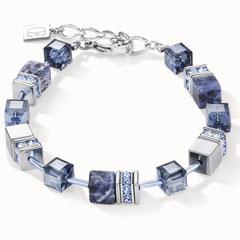4905300840   |   Armband GeoCUBE® Swarovski® Kristalle & Edelsteine flieder-grün