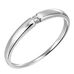 """1-03585-52-0089 """"Brillantring Verliebt Verlobt"""" 585/- Gold Brillant 0,03 ct SI H"""