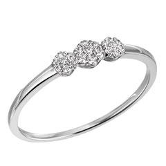 """1-08323-52-0089 """"Brillantring Verliebt Verlobt"""" 585/- Gold Brillant 0,13 ct SI H"""