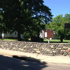 2016 view of John Brown House & restored wall, Akron, Ohio