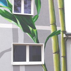 Graffiti aus der Dose für die Fassadenwand