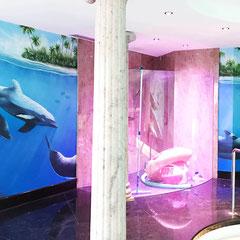 Pool und Schwimmbadbau Innenraum Design Graffiti