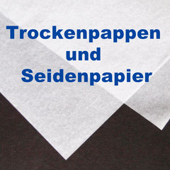 Seidenpapier und Trockenpappen