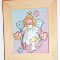 Ángel con estrellas. 6 láminas15€
