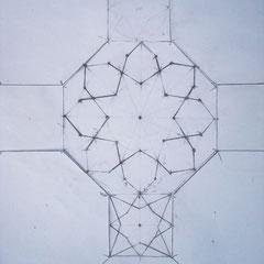 Basispatroon met daarin rozet en ster,