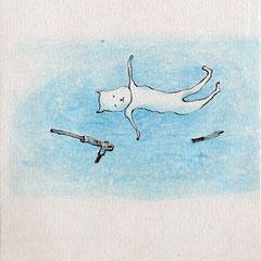 Ayumi Kudo Il giromondo di Ayumi 2012 libro d'artista pennino con inchiostro, matita colorata, carta Fabriano, pelle di cammello 12x2 x11 h cm