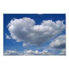 Herzwolke - Liebe am Himmel Plakate. Das ist eine Original-Aufnahme. zazzle.de