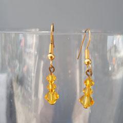 Boucles d'oreilles cristal Sunflower  5€