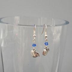 Boucles d'oreilles cristal Sapphire 5€