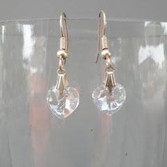Boucles d'oreilles cristal   7€