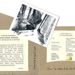 Intérieur de la pochette, avec texte de présentation et carte d'identité du sténopé Polaroid, © Annick Maroussy