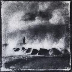 FÉCAMP - A : Allégorie, Monotype, tirage au charbon direct, bichromie. ©Annick Maroussy Amy