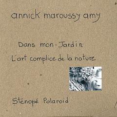 """Pochette de présentation du sténopé Polaroid, série """"Au Jardin""""  © Annick Maroussy"""