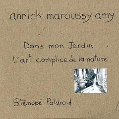 """Pochette de présentation du sténopé Polaroid, série """"Sur le rebord de ma fenêtre""""  © Annick Maroussy"""