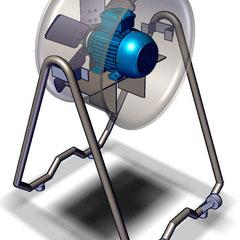 Ventilador portatil tipo industrial