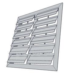 persiana de gravedad de aluminio para ventiladores axiales de pared