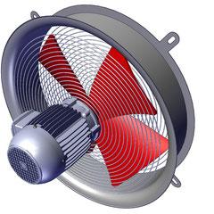 Ventiladores para compresores, ventiladores para transformadores
