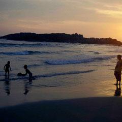 Inde. Coucher de soleil au Cap Comorin