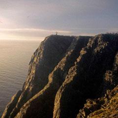 Norvège. Soleil de minuit au Cap Nord