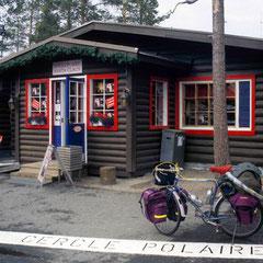 Finlande. Maison du père Noël sur le cercle polaire