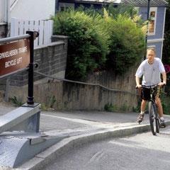 Norvège. Ascenseur à vélo!