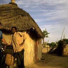 Accueil dans un village