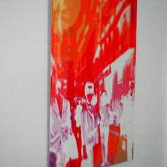 """""""In Paris""""; 1963/ 2015; digitalART/ Fotokunst, Retro-Kunst, Fotokunst, 60er Jahre, Kult Fotographie, Fotokünstlerin, abstrakte Fotokunst"""