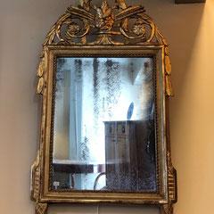 No 36 Franse provinciale Louis XVI spiegel - antiek glas (Laatste kwart achttiende eeuw) -87 c/m hoog 48 c/m breed . prijs op aanvraag.