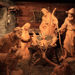 Village nativity scene at Salzburg Mountain Advent in Grossarl