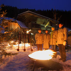 Torchlight hike at Salzburg Mountain Advent in Grossarl
