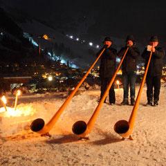 Alphornbläser beim Salzburger Bergadvent im Großarltal