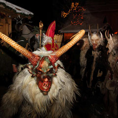 St. Nick and Krampus at Salzburg Mountain Advent in Grossarl