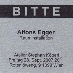Einladung Alfons Egger 2007