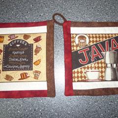 Topflappen in angesagtem Kaffee-Design