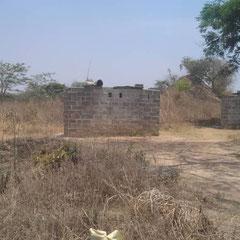 Toilettes d'une école en Zambie