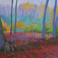 Primer bosque. Acrílico sobre lienzo. 76 x 112 cm.