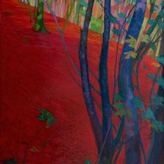 The blue tree. Acrylic on canvas. 130 x 60cm.
